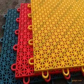 厂家销售 网球场拼装地板 室内大平板地板 悬浮式塑胶地板