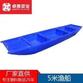 塑料船渔船加厚双层捕鱼船养殖钓鱼牛筋小船冲锋舟