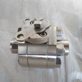 3PC锻钢高压内螺纹球阀