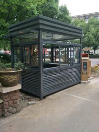 不锈钢岗亭-钢结构岗亭-金属雕花板岗亭-PVC挂板岗亭