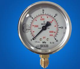 一般普通压力表Y-100 0.1-60Mpa规格轴向压力仪表