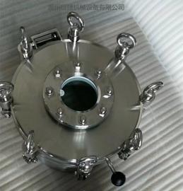 300厂家供应卫生级304耐压带视镜人孔 人孔盖