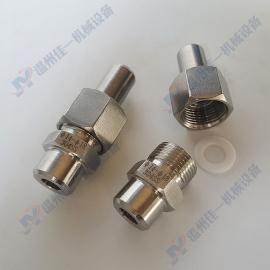 不锈钢焊接终端接头 焊接直通终端接头 仪表专用对焊活接头