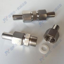 不锈钢焊接中间接头 焊接直通中间接头 仪表专用对焊活接头
