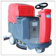 高档小区物业清洗大堂通道用驾驶式电动洗地机