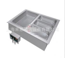 美国进口赫高Hatco HWBI-2M 双联嵌入式保温汤池(带去水)