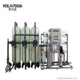大型工厂几百员工直饮水用3T/H玻璃钢经济型RO反渗透纯净水设备