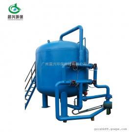 晨兴专业提供工业污水处理大型机械过滤器 60T/H石英砂过滤器