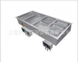 Hatco HWBI-4MA 四联嵌入式保温汤池(带去水/自动上水)