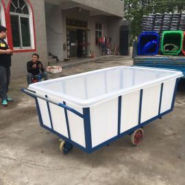 工厂直销1200L塑胶推布车 布衣内胆方箱 工厂洗涤专用推布车