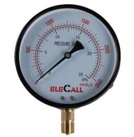 伊莱科膜盒压力表YE-150耐震真空指针家用自来水0-6Kpa/10Kpa/16