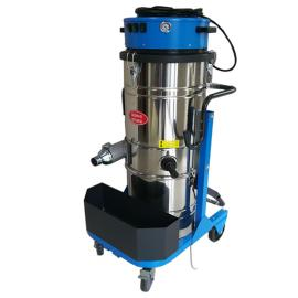 旋风分离式上下桶工业吸尘器大容量100L吸铁屑粉末颗粒焊渣用