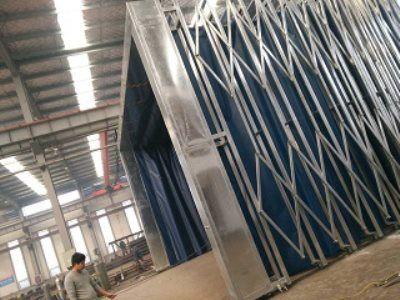 伸缩式移动喷漆房设备 喷漆房装置 废气治理环保设备