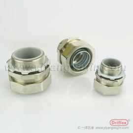 铜镀镍直接头优质黄铜接头穿线金属软管接头