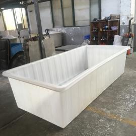厂家定制2000L大型pe塑料鱼池牛筋水产养殖箱抗老化经久耐用方箱