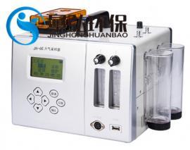 双路大气采样器 交直流两用 CPU控制 便携式大气采样仪