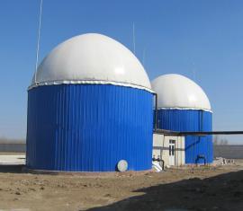 沼气工程搪瓷拼装厌氧反应存储一体化设备