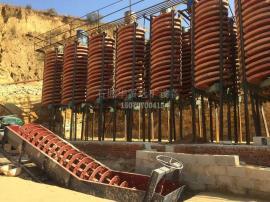 洗煤螺旋溜槽-煤矿重选溜槽 铁矿选矿实验溜槽
