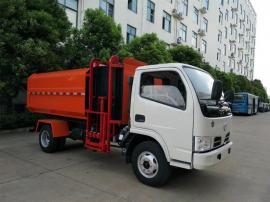 东风多利卡5方挂桶垃圾车报价表 小型垃圾清运车厂家