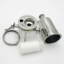 0.22UM卫生级单筒过滤器 微孔膜过滤器 304过滤器