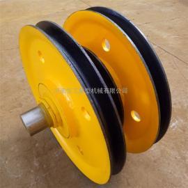 20t起重机钢丝绳滑轮组 滑车滑轮组 吊钩铸钢滑轮 20t夹轮滑轮组