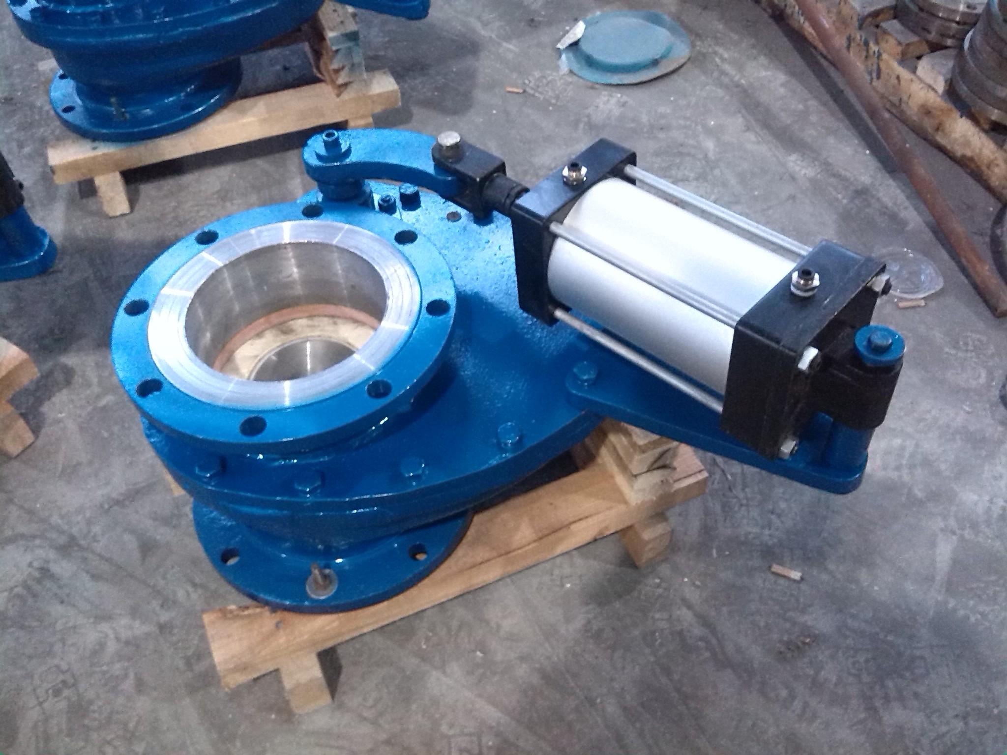 气动陶瓷耐磨摆动阀 气动仓泵透气阀 陶瓷圆盘阀 仓泵图片