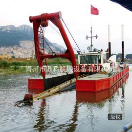 南方12寸绞吸式挖泥船 河道挖宽挖深清淤船 鼎科内河清淤疏浚船