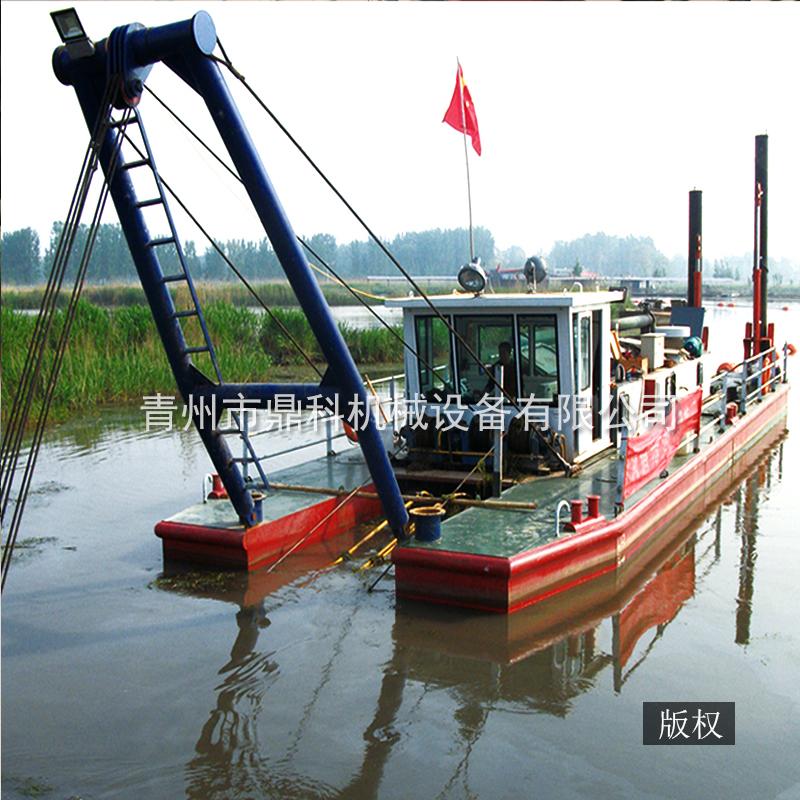 8寸绞吸式挖泥船 港口绞泥船出售 绞吸船清淤 鼎科挖泥船现货