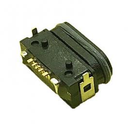 MICRO大电流防水母座5P 3A大电流 带支架