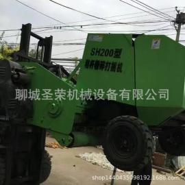 拖拉机带动秸秆粉碎捡拾打捆机