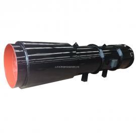 SDS隧道风机带消音器 低噪高效率单向通风 碳钢隧道射
