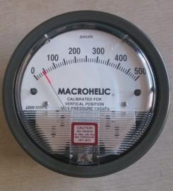 机械负压表MACROHELIC指针压差表
