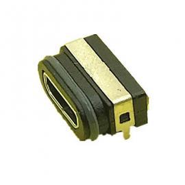MICRO 5P防水电源脚过3A电流带支架防水IP68