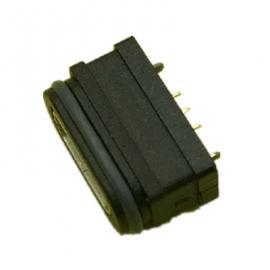 MICRO 5P母座180度立式带支架防水IP68