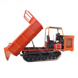 履带运输车自卸式翻斗 3吨履带搬运车拉土很轻松