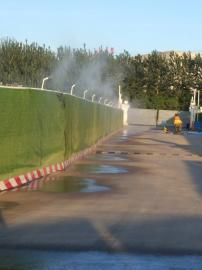 工地围挡喷淋 厂房降温系统路面喷淋降尘水雾管道系统制作商