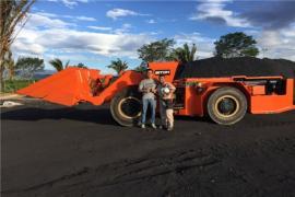 鑫通铲运机在哥伦比亚矿山的使用情况