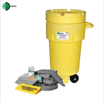 ENPAC_50加仑脚轮通用式泄漏处理桶套装1350-YE 50加仑,通用型
