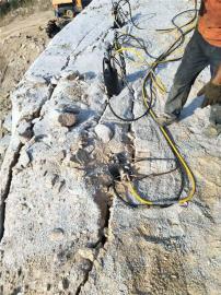 修建高速公路破除障碍岩石不能放炮用劈裂机