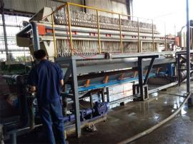 全新污泥板框压滤机 自动拉板板框压滤机