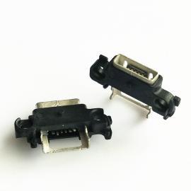 MICRO 5P方口母座带固定柱接口外漏SMT贴板防水IP67