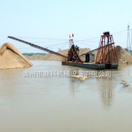 鼎科大型挖沙船 链斗式大型采沙船 挖斗船 挖沙选金船厂家直销
