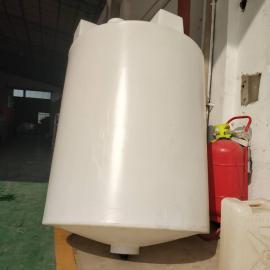 1吨锥底加药箱1000l耐酸碱搅拌箱PAM溶药桶带电机搅拌罐厂家定制