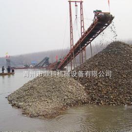 链斗式远距离输送挖沙船 淘金船 鼎科远距离输送挖沙船厂家定制