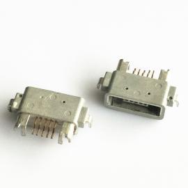 两脚沉板MICRO沉板式防水母座塑胶外壳前插后贴防水ip67