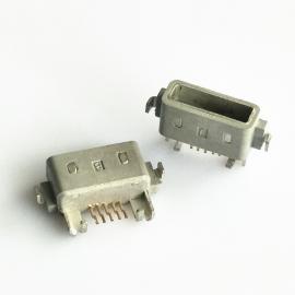 方口防水母座MICRO两脚沉板外壳注塑成型前插后贴防水ip67