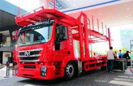 红岩单桥轿运车中置轴轿运车厂家直销配置图片