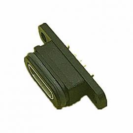 防水IP67MICRO 5P方口防水母座�еЪ�SMT�N板