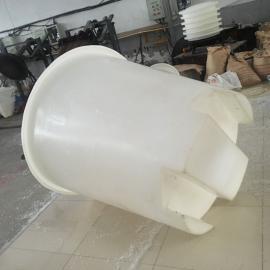 带叉车孔腌菜大桶皮蛋腌制桶1吨食品级塑料桶印染化工厂铲车桶