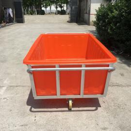 厂家直销全新印染推布车1500L印染厂专用布车方形塑料周转箱